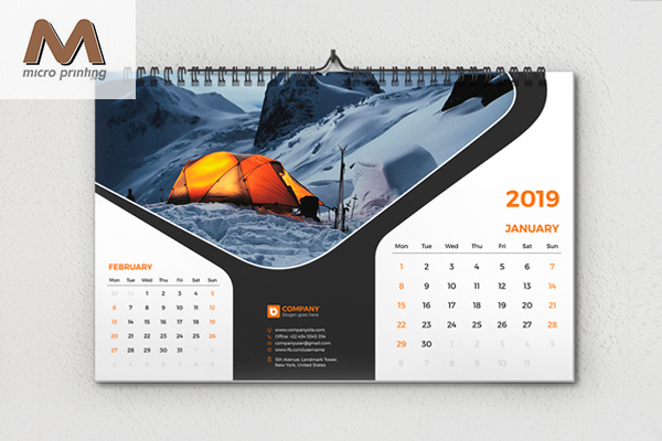 Corporate wall calendar design