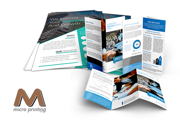 printed brochures and flyers