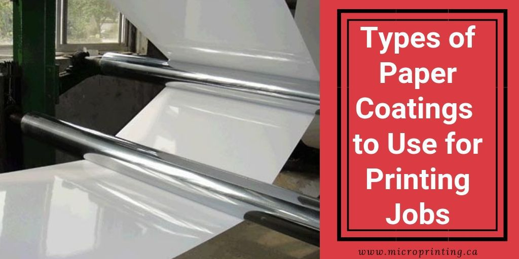 Paper coating types