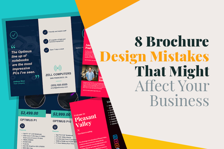 8 Brochure Design Mistakes That Might Affect Your Business